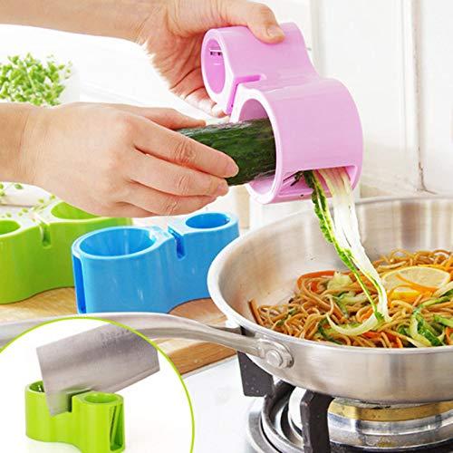 Cortador en espiral de calabacín, fideos, pasta y espaguetis, espirales, cortador de pelador de verduras y utensilios de cocina