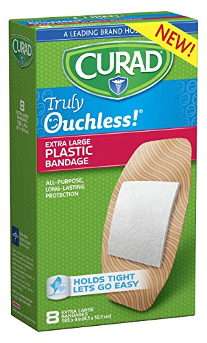 Curad Truly Ouchless Plastic Bandages, X-Large, 8 Count