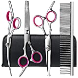 Best Dog Grooming Scissors - Dog Grooming Scissors kit with Safety Round Tips Review