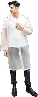W.zz Outdoor Adult Raincoat Raincoat Hiking Poncho Rain Gear,E,M