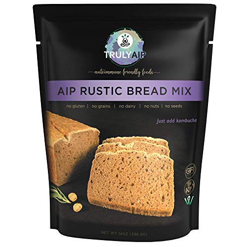 Truly AIP Rustic Bread Mix – Makes 1 loaf, 2 pizza crusts, waffles, pancakes – Gluten Free, Vegan, Kosher - Autoimmune Protocol, Paleo Approved, Whole 30 Friendly – 14 oz. package