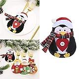 Bolsas de cubiertos de Navidad 4 piezas cuchillo y tenedor cubierta de Navidad decoración de escritorio Navidad fiesta vajilla ornamento suministros