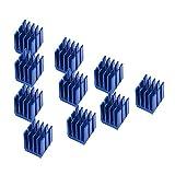 Richer-R 3Dプリンターアルミヒートシンク ブルーアルミステッパーモーター ドライバーヒートシンク冷却フィン 3Dプリンター用冷却装置(10パック)