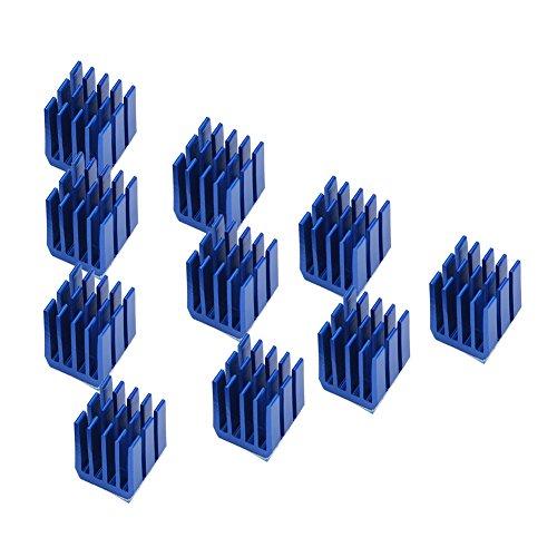 Bewinner 10pcs Blu Alluminio Motore Passo-Passo Driver dissipatore di Raffreddamento Pinne Raffreddamento 3D Parti della Stampante Driver dissipatore di Calore per Stampante 3D TMC2100 Stepper Driver