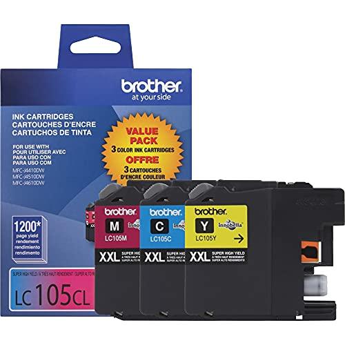 Brother Genuine LC1053PKS Super High Yield XXL Ink Cartridges,Cyan, magenta, yellow