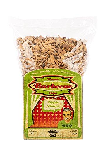 Axtschlag Räucherchips Apfel, 1000 Gramm sortenreine Räucherspäne für besondere Rauch- und Geschmackserlebnisse, für alle Grills