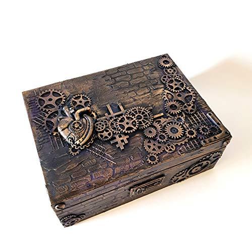 Geldgeschenk box,Geldschein box, Geschenkbox aus Holz, Werkzeugbox, Box für kleine Werkzeugbox für Herren,Für Ihn, Geschenk für Mann, Steampunk