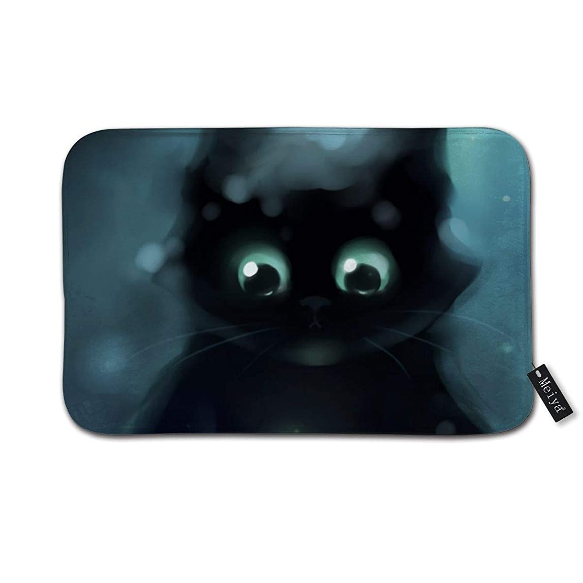 注入モジュール保護かわいい猫アニメ BathMatすばらしい玄関マット屋内浴室マット足ふきマット 速乾 吸水 キッチン お風呂 ドア 滑り止め 40cm×60cm