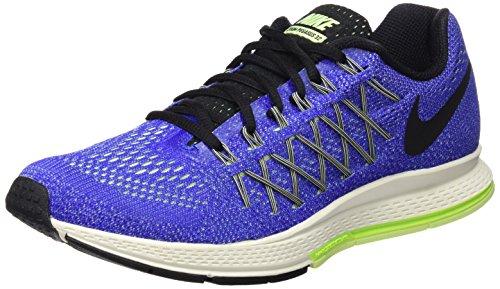 Nike Air Zoom Pegasus 32, Zapatillas de Running para Hombre, Azul/Negro / Verde (Racer Blue/Black-Volt-Brly Vlt), 42 1/2 EU