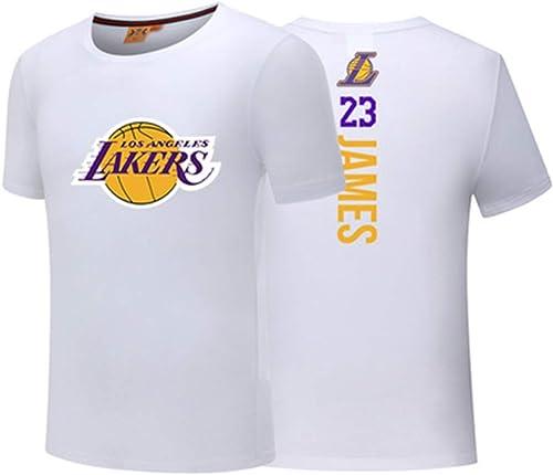 SHUAI T-Shirt Joueur T-Shirt de Basket-Ball NBA All-Star Harden Owen James Lakers Guerriers Manches Courtes Maillots d'entraîneHommest laches