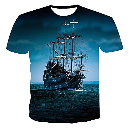 Streetwear Hombre Estilo Hip Hop Cuello Redondo Verano Hombre Shirt Vintage 3D Novedad Creativa Impresión Hombre T-Shirt Tendencia Transpirable Shirt Casual Hombre Manga Corta TD02 3XL