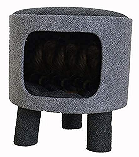 Rosewood Niche/Tabouret à Chat Gris Anthracite