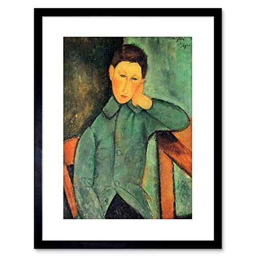 The Art Stop Painting Amedeo Modigliani BOY Blue Jacket Old Master Framed Print F97X2671