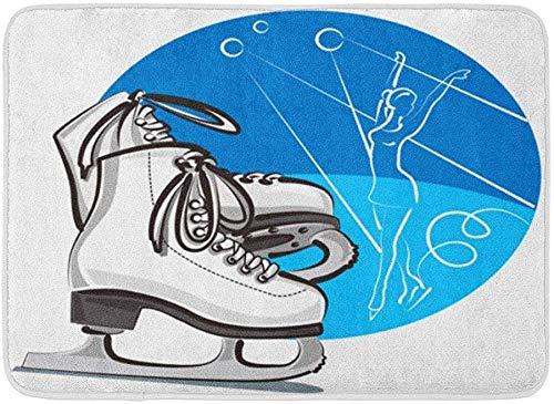 uytrgh Fußmatte für Schlittschuhe/Skater/Stiefel, rutschfest, für den Eingangsbereich, 40 x 59,9 cm