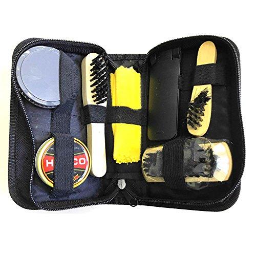 HAC24 Schuhputz Set Schuhcreme Schuhpflege Bürsten Schuhputzzeug Schuhpflege Schuhputzkasten Lederpflege