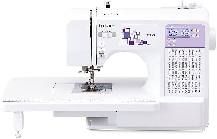 Macchina da cucire elettronica, in acciaio inossidabile, bianco/viola, 44 x 28 x 35 cm brother fs70wts FS70 WTs
