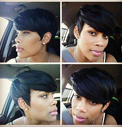 AWEISE Short Wigs Pixie Cut Wig for Black Women Synthetic Short Pixie Wigs