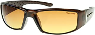 HD Active Frame Sports Wrap Sunglasses (Brown)