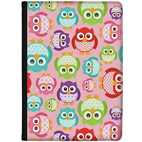 Azzumo Colourful Kawaii Owls Faux Leather Case Cover/Folio for the Vodafone Smart Tab N8 (2017)