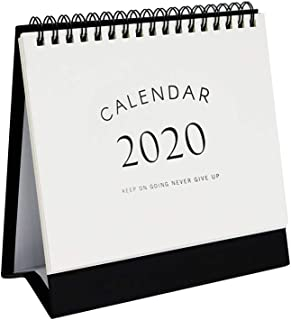 Multibey 2019-2020 Year Steel Coil Spiral Desktop Calendar Business Gift Table Self-Standing Easel Planner Agenda for Office Classroom N Home Double-Sided (Small)