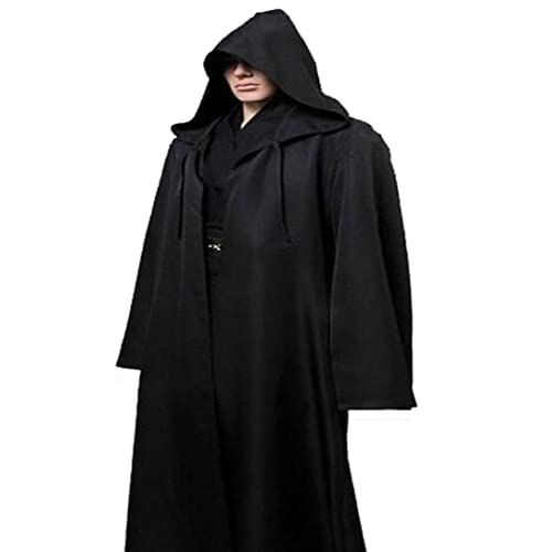 e2d3253c8d Amayar Men Tunic Hooded Robe Cloak Knight Fancy Cool Cosplay Costume