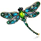 Rhinestone Brooch Crystal Dragonfly Brooch Pin for Women Jewelry Outfits Decoration