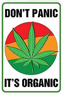 Don't Panic It's Organic - Funny Metal Decor Gift Sign