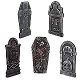 EXCEART 5 Piezas Halloween Rip Cementerio Decoración Espuma Lápida Escalofriante Decoración de Lápida de Halloween para Jardín de La Casa Embrujada