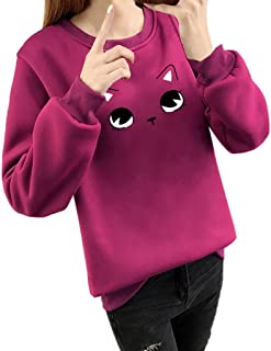 Cute Sweatshirt 855 Londony ♥‿♥ Women's Lovely Printed Hooded Pullover Hoodie Shirt Blouse for Cat Fan Girls