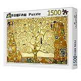 FAWFAW Puzles Adulto De 1500 Piezas, Gustav Klimt Árbol De La Vida 1500/1000/500/300 Piezas