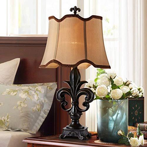 YXZQ Lampe, Tischlampen Leinenschirm Tischlampen Für Schlafzimmer Kommoden Buffets...