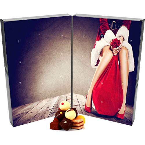 Hallingers Pralinen-Adventskalender - Mrs. Santa (Buch-Karton)
