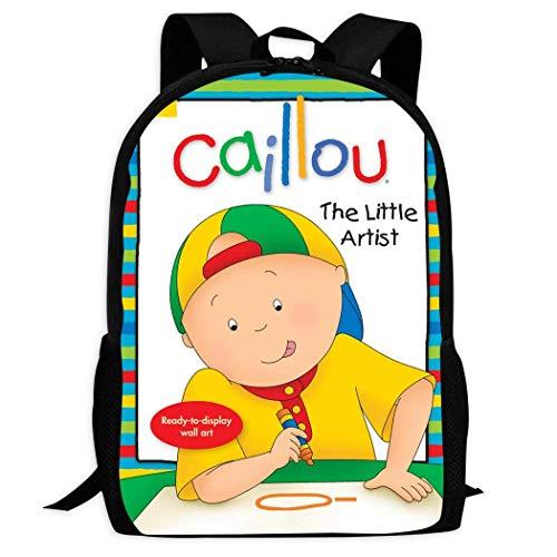 XCNGG Mochila de impresión de fotograma completo para adultos Mochila informal Mochila Mochila escolar Cai-llou School Backpacks 3D Printed Bookbags Daypack Shoulder Lightweight Bag Laptop, Fashion La