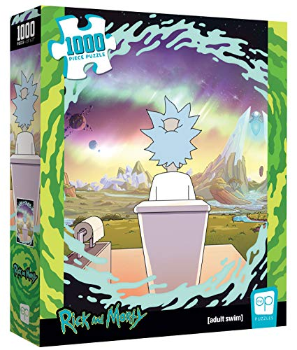 USAOPOLY Rick and Morty Shy Pooper 1000 Piece Jigsaw Puzzle | Officially Licensed Rick & Morty Merchandise | Collectible Puzzle Featuring Rick Sanchez | Rick and Morty Artwork