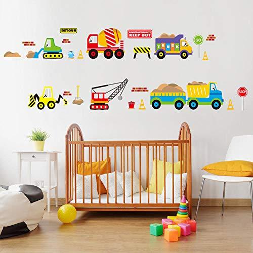 Cartoon Voertuig Verkeer Auto's Bussen Muurstickers voor Kids Kamer Woonkamer Kleuterschool Baby Kwekerij Thuis Decoratie Waterdicht
