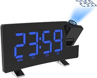 comprar comparacion AOZBZ Proyección Techo Reloj de Pared Proyector Digital Radio Reloj Despertador Radio FM Reloj de 7.1
