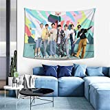 Kpop BTS Tapestries Life Goes On Art Home Decor Wall Hanging Throw Tablecloth Tapestry For Bedroom Living Room
