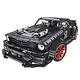 Gettesy Bloques de construcción para coche, 3168 bloques de construcción 1:10 2.4 G, tecnología de coche de carreras para Ford Mustang, coche deportivo, compatible con Lego Technic