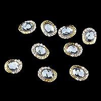 Hellery 10個/個の3Dネイルアート合金装飾ブリンブリンラインストーンチャームグリッターのヒントDIY - 9#