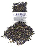 Dried Violets - Natural Violet Flower Sprinkles from Germany (Viola Odorata) - Perfect addition to any salad, snack or smoothie bowl | Net Weight: 0.35oz / 10g | Whole Viola Flowers