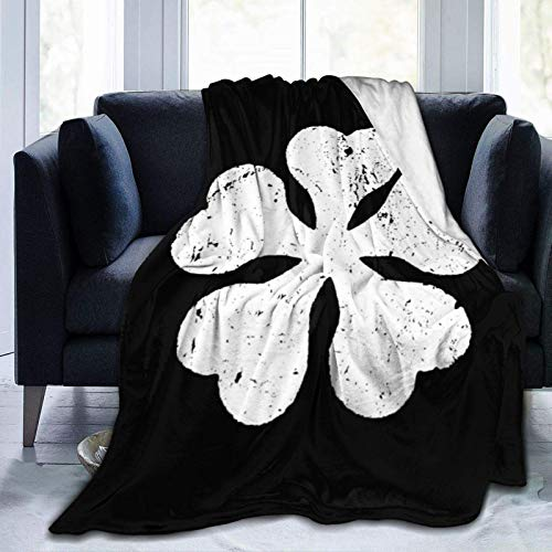 XCNGG Mantas de Cama Black Clover Asta Flannel Soft Blanket for Couch Home Decor Luxurious Warm and Cozy for All Seasons 50x40 Inch for Child