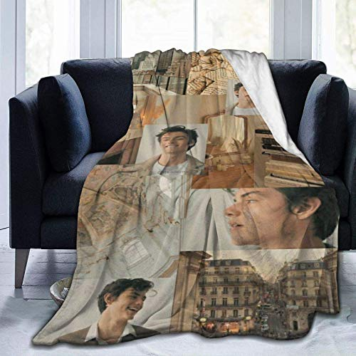 Louis Partridge Air Conditioning Throw Blanket Fleece Blanket Throw Extra Soft 3D Fashion Printed Perfect for Couch Bed Sofa All Season for Kids Teenager Adults 80'x60'