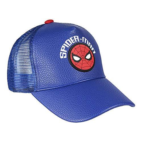 Cerdá Unisex-Kinder 8427934353163 Premium Spiderman Cap, Blau, 53 Centimeters