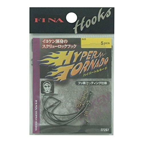 ハヤブサ(Hayabusa) シングルフック ハイパートルネード 1/0号 5本 FF207
