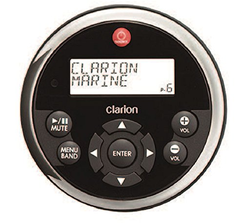 clarion marine stereos Clarion MW1 Watertight Black Face with Stainless Steel Bezel Remote with LCD Display for 2009 Marine Source Units