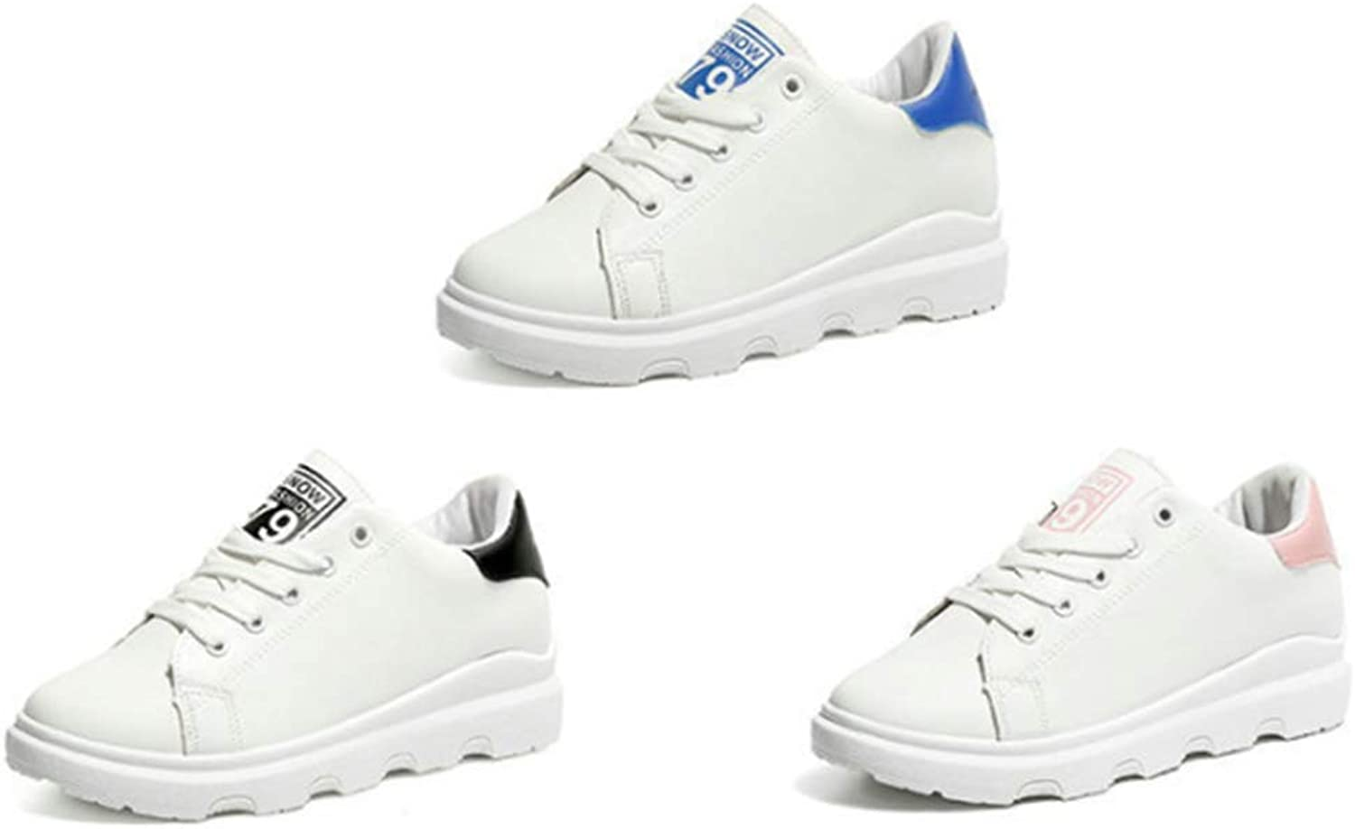 T-JULY Women's Fashion Wedges Sneakers Running Sports White Breathable shoes Slip-on Dress Casual Walking shoes