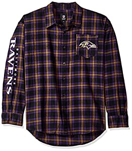 Baltimore Ravens Wordmark Basic Flannel Shirt Small