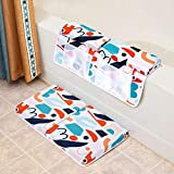 Baby Bath Kneeler with Elbow Rest Pad Set, 1.4 inch Thick Kneeling Pad and Elbow Support for Knee & Arm, Kneeling Mat with Toy Organizer for Happy Baby Bathing Time