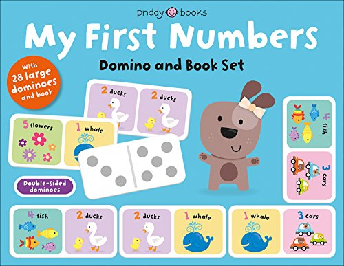 My First Numbers Domino and Book Set: With 28 Large Dominoes and book (My First Priddy)