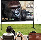 Projector Screen with Stand , Upgraded Thicken Iron Stand 130 inch 16:10 Outdoor/Indoor Portable...